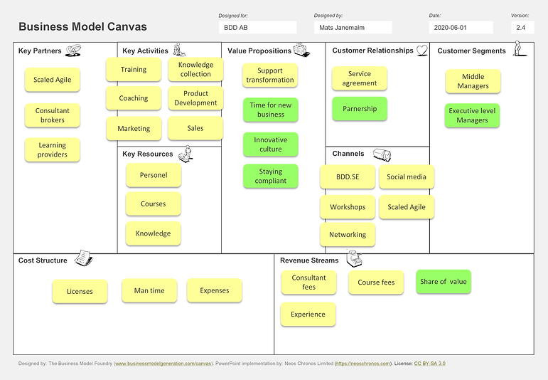 Business Model Canvas Consultancy
