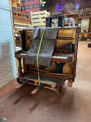 An Upright Piano In A Studio In Sheffiel