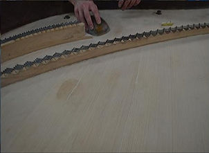 A grand piano being restored by our expert piano technicians 2