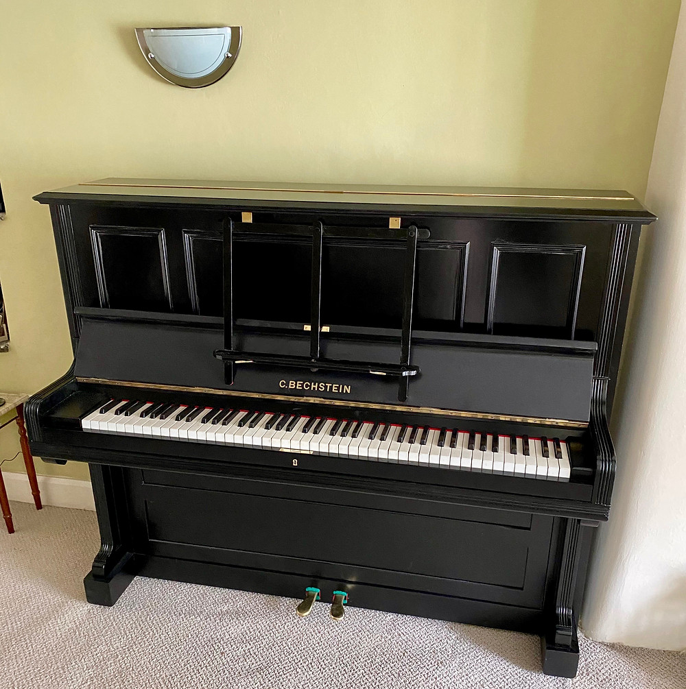 Bechstein Model 9 Upright Piano Inside the House