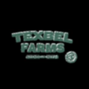 TEXBEL FARMS LOGO. green. no background