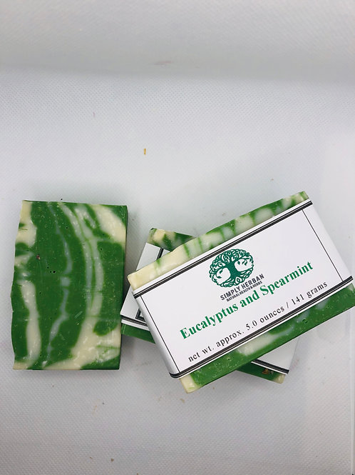 Eucalyptus and Spearmint Handcrafted Soap