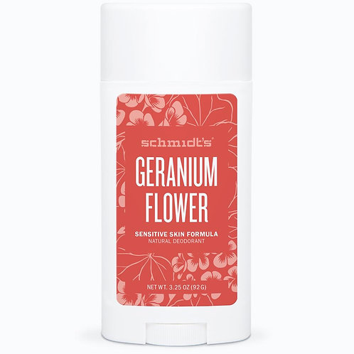 Schmidt's Geranium Flower Sensitive Skin Natural Deodorant