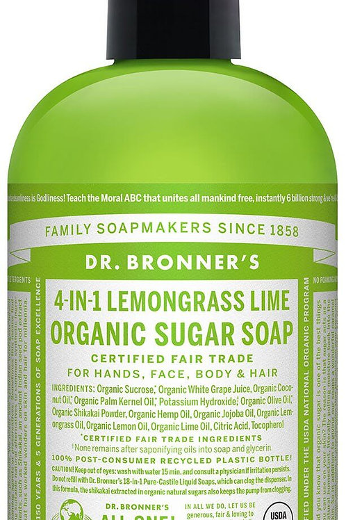 4-IN-1 Organic Lemongrass Lime Sugar Soap