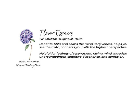 Indigo Hydrangea Flower Essences