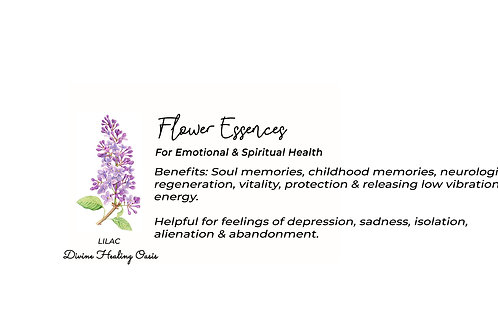 Lilac Flower Essences