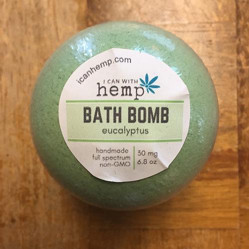 Hemp Infused Bath Bomb: Eucalyptus