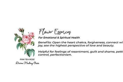 Pink Tea Rose Flower Essences