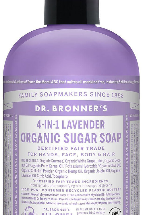 4-IN-1 Organic Lavender Sugar Soap