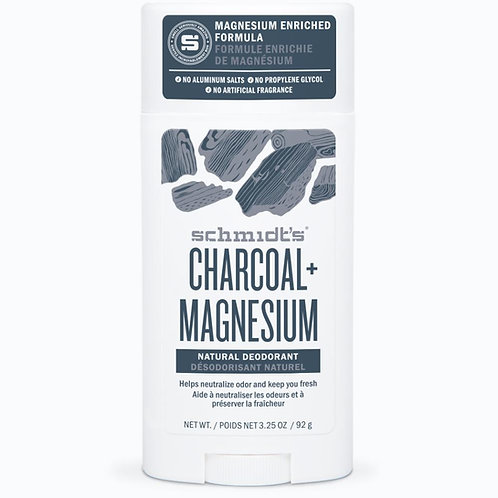 Schmidt's Charcoal Magnesium Natural Deodorant