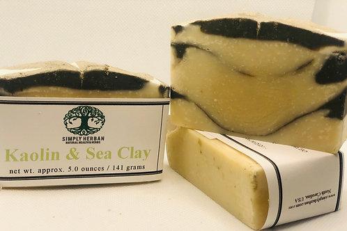 Kaolin and Sea Clay (Frankincense, Myrrh, and Palmarosa Essential oils)