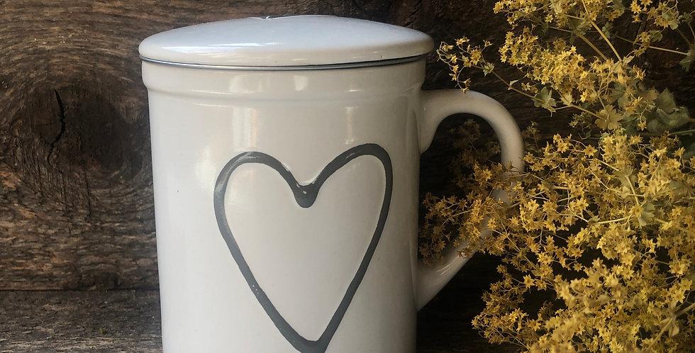 Teetasse Herz