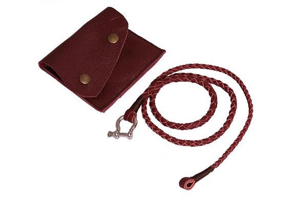 Lasso Indiana Armband Violett mit Ledertasche
