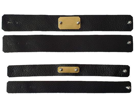 Lederbänder Black & Gold