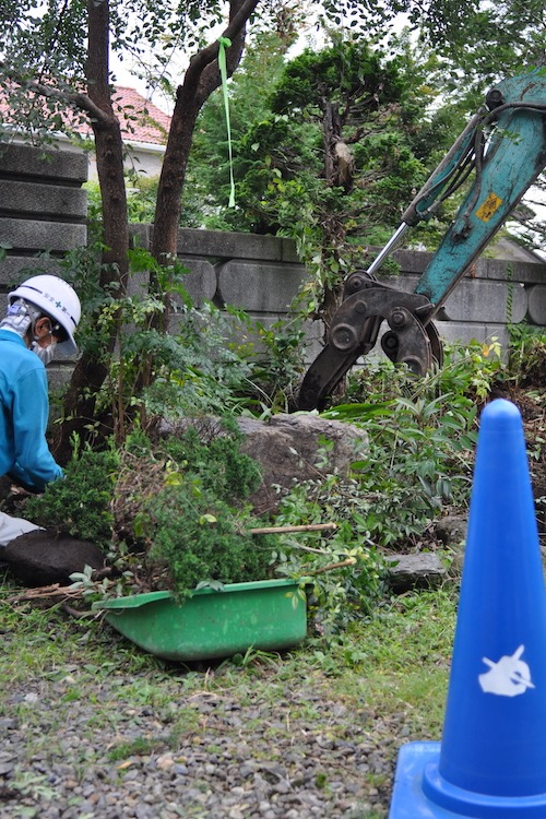 世代交代による庭の改修工事