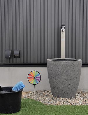 不凍栓と鉢