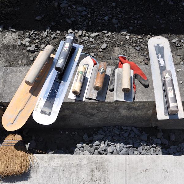 土間打ちの道具たち