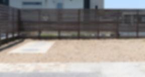 ベーシックなウッドフェンス