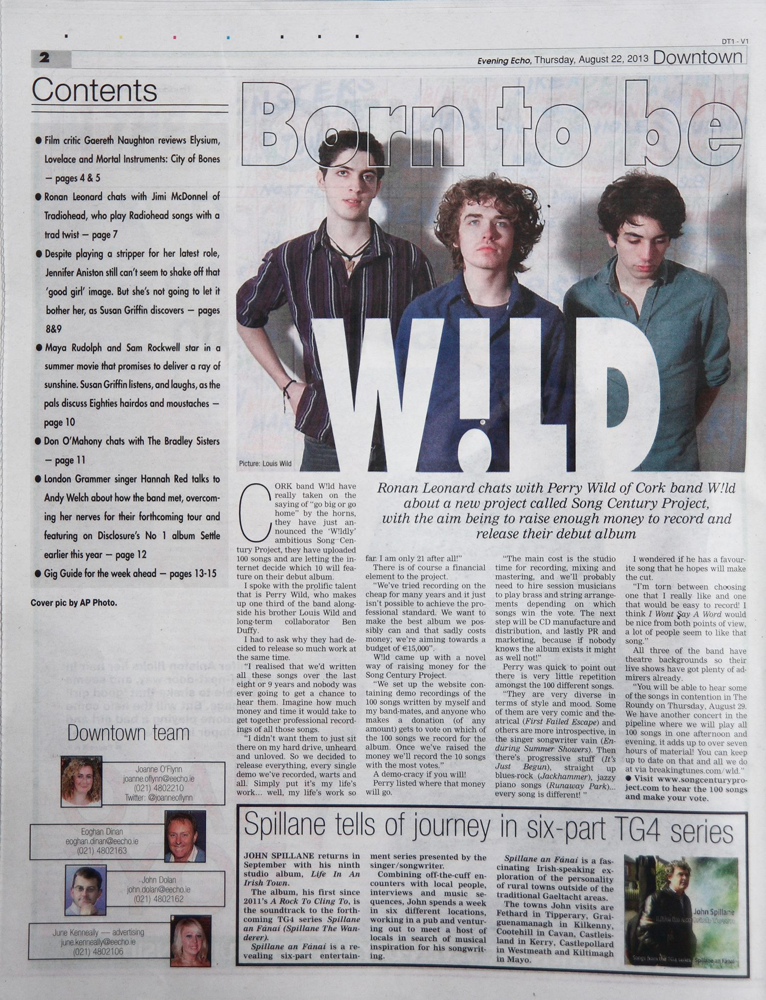 W!LD Evening Echo Article