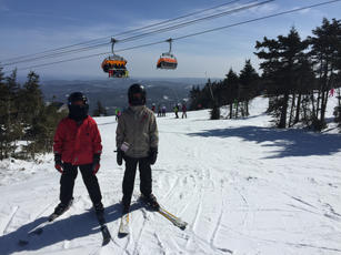 On the slopes at Okemo