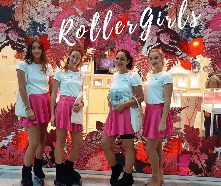 Aeroville Centre Commercial hotesse Roller Girls