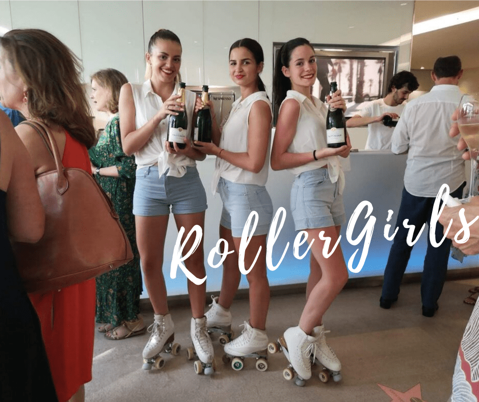 summer party hotesses serveuse rollers roller girls