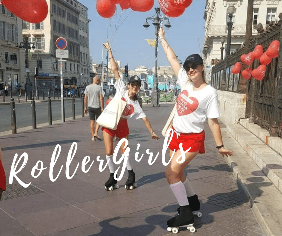 CCI Marseille Roller Girls Hôtesses flyers