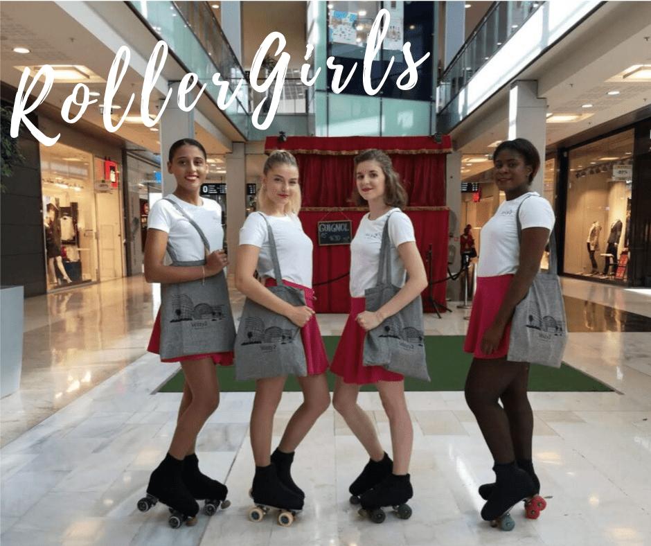 Velizy2 Centre Commercial hôtesse Roller Girls