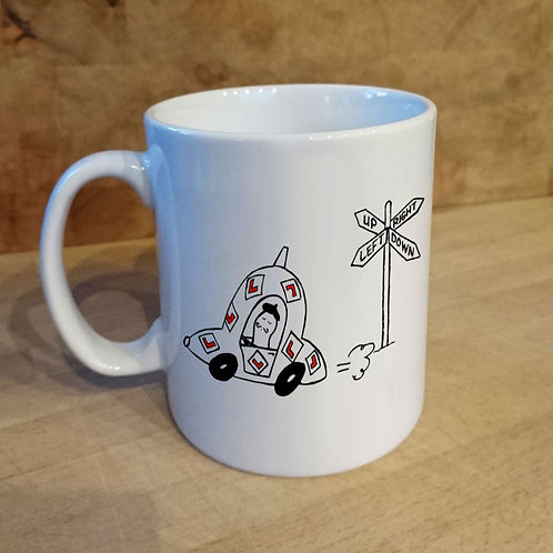 car, mug, cup, gift, driving test, passing, tea, coffee
