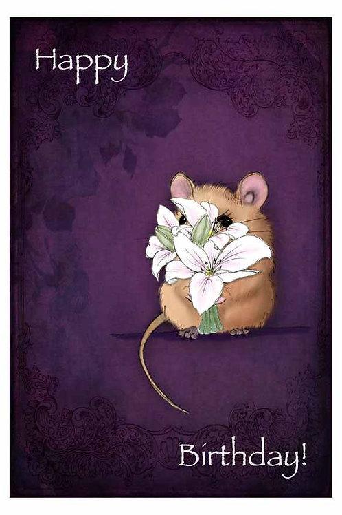 Birthday Flowers Birthday Card