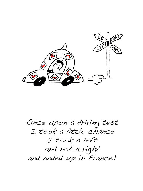 France - Once Upon a Peanut Driving Congratulation Card