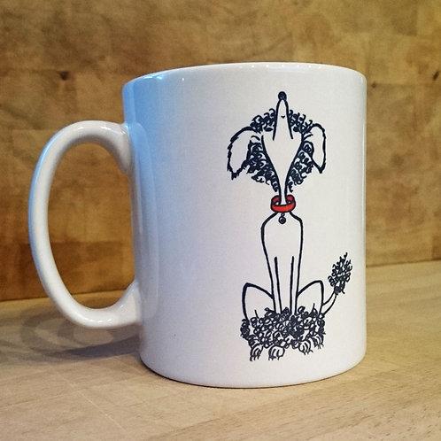 mug, dog, poodle, cartoon, dog lovers, gifts, cute, puppy