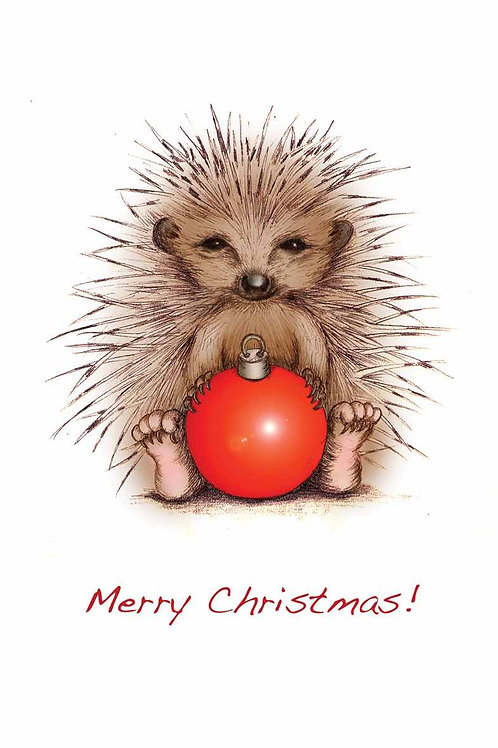 Prickly Christmas Christmas Card