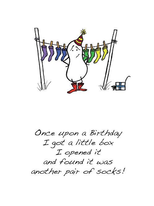 Socks - Once Upon a Peanut Birthday Card