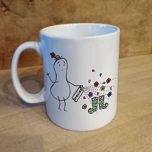 mother's day, wellies, mug, humorous, funny, mug, ceramic