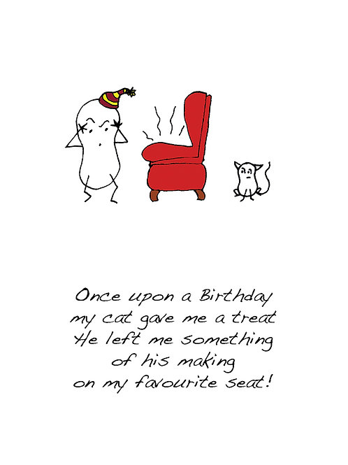 Seat - Once Upon a Peanut Birthday Card