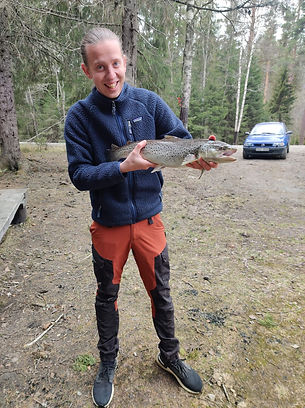 Jon Genberg - första inrapporterade fisken 2021