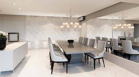 3D sala de jantar - requinte e personalidade