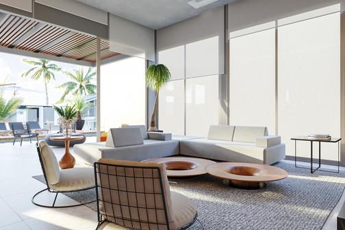 3D sala contemporânea - requinte e design