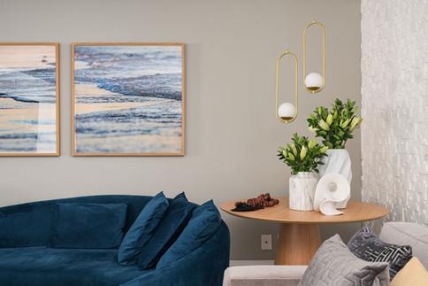 Detalhe de sala de estar com detalhes