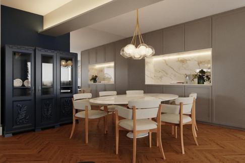 3D Sala de Jantar mix de estilos: contem