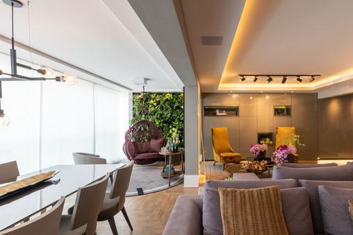 Varanda integrada a sala de estar