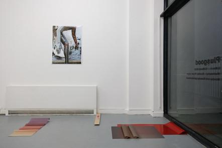 "My piece ""Break Now the Dawn"" alongside with Hampus Hoh's piece"