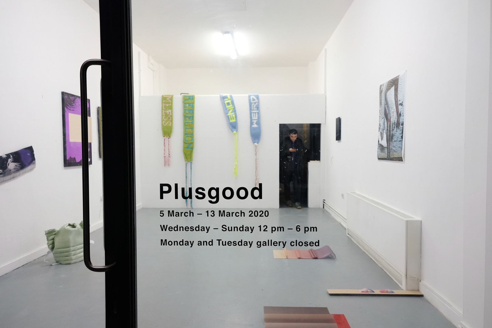 Installation view of Break Now the Dawn at Plusgood, Enclave, London. March 2020.