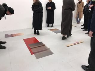 Installation view of Break Now the Dawn at Ben Pimlott Building, Goldsmiths, University of London. Dec 2019.
