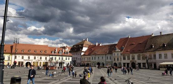 Wolken über Hermannstadt