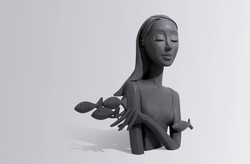 Sculpture bronze - Elle M s'évader