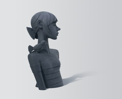Sculpture bronze - Elle M enchanter