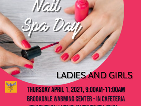 We are honored to present a Nail Spa Day for the Ladies Residences at the Brookdale Warming Ctr