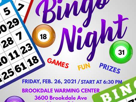 We are so excited to bring joy into the lives of those at the Brookdale Warming Center! Bingo Night
